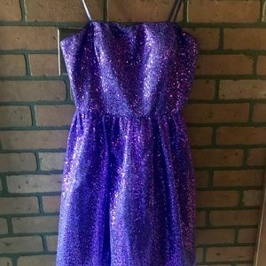 Purple Sequin Homecoming/Prom Dress-size 7/8